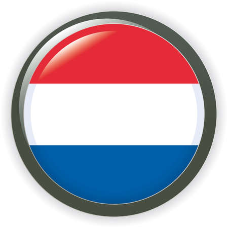 Orb NETHERLAND Flag  button illustration 3D Vector