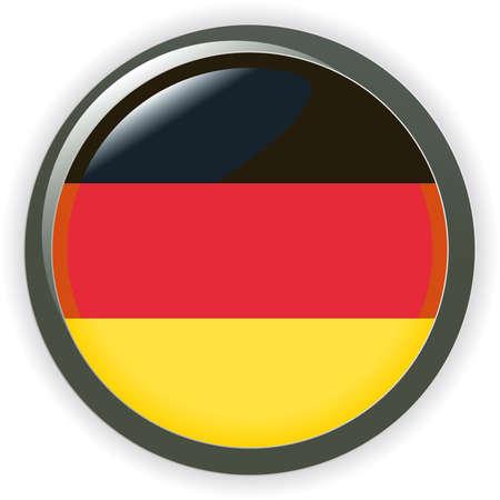 bandera alemania: Bandera de Alemania de orbe bot�n ilustraci�n 3D