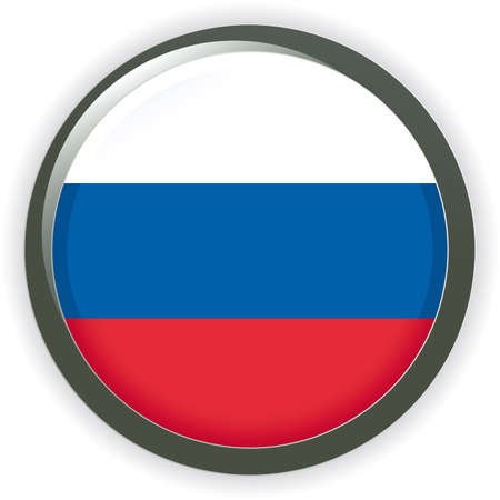 Orb RUSSIA Flag  button illustration 3D Vector