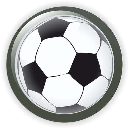 Football soccer background button  illustration  Vector