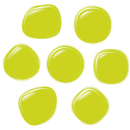 refracting: illustration set of colourful refracting Glass ballsbutton on a white background