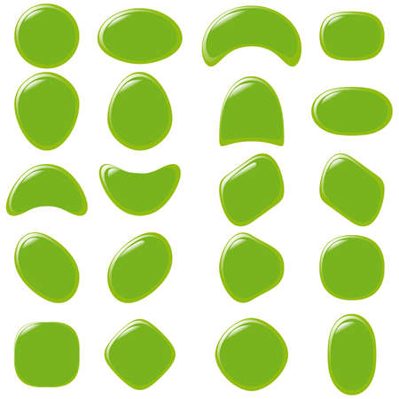 refracting: illustration set of colourful refracting Glass balls  Illustration