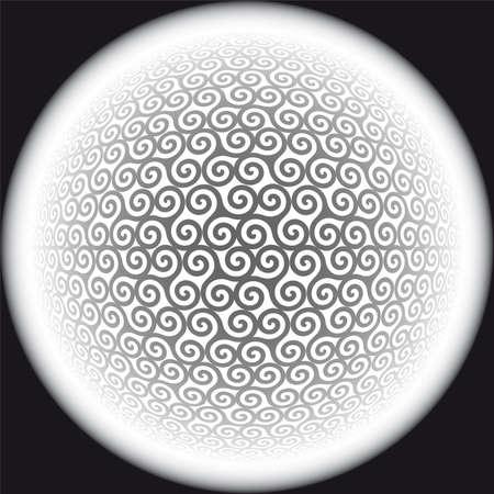 iteration: triskeles - senza saldatura pattern di sfondo  Vettoriali