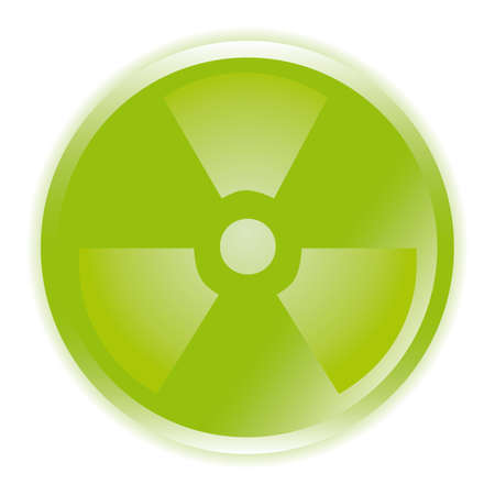 radioactive sign symbol icon  Vector