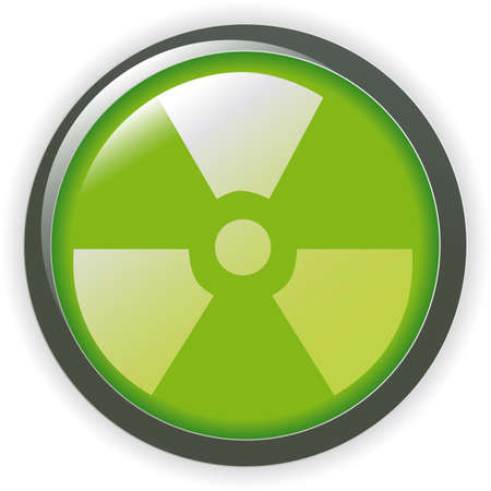 radioactive sign symbol icon Stock Vector - 7068039