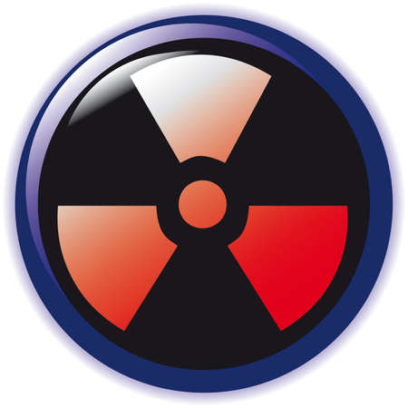 vector. radioactive sign symbol icon  Vector