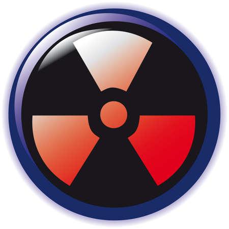 hydrogen bomb: vector. radioactive sign symbol icon  Illustration