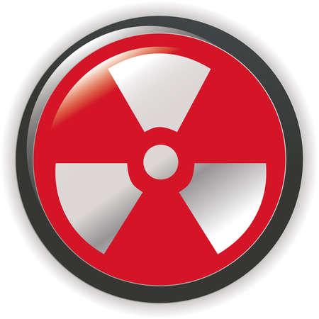 radioactive sign symbol icon  Stock Vector - 7068036