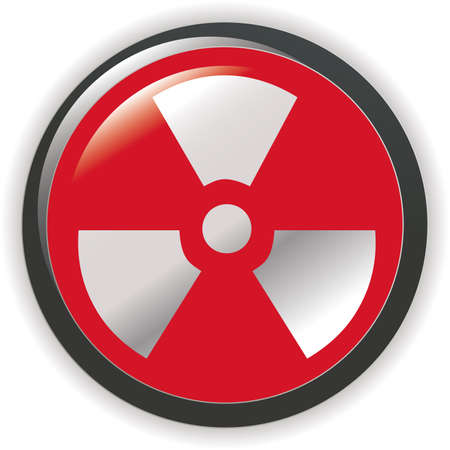 radioactive sign symbol icon Stock Vector - 7068036