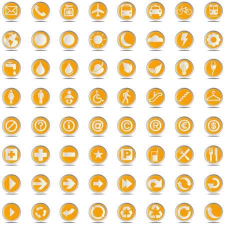 mine site: 64 presentation buttons icons symbol web eco.