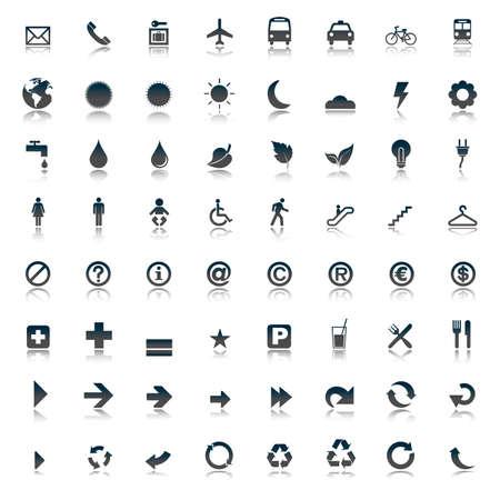 mine site: 64 set presentation buttons icons symbol web eco.