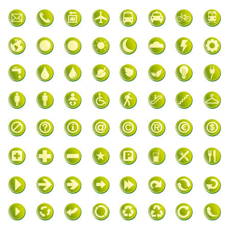 al: 64 set presentation buttons icons symbol web eco.