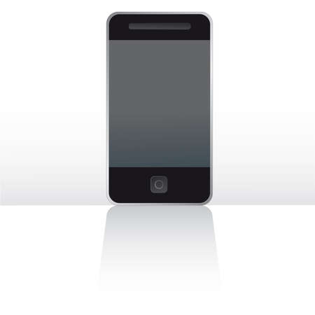 electronic organiser: Mobile touch screen phone digitally altered and rendered from original to avoid copyright issues