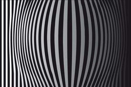 arte optico: Op Art protruyentes franjas verticales negras y blancas One