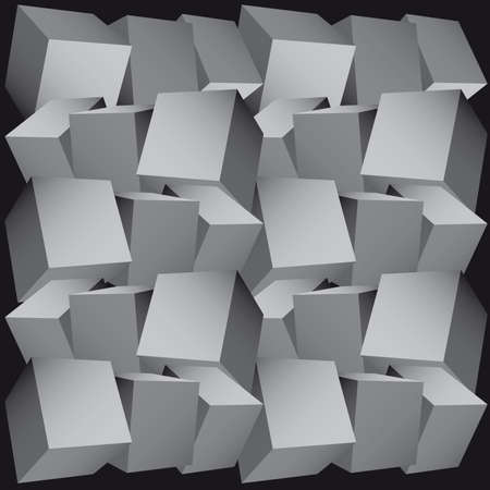 the third dimension: 3d composition of cubes  illustration