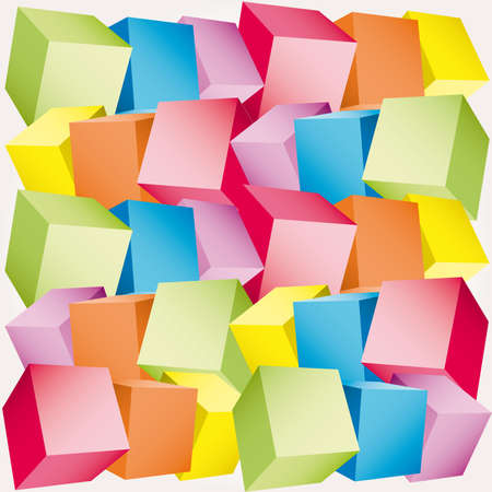 3d composition of cubes  illustration Stock Vector - 7270114