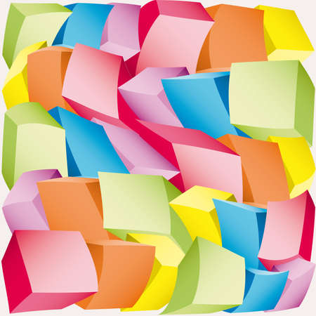 3d composition of cubes  illustration Stock Vector - 7270117