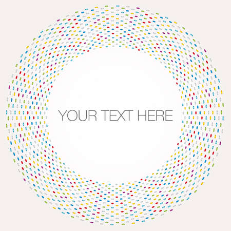 Multicolored dot background Vector