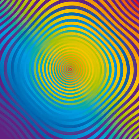abstract colorful spiral op-art Stock Photo - 7377882