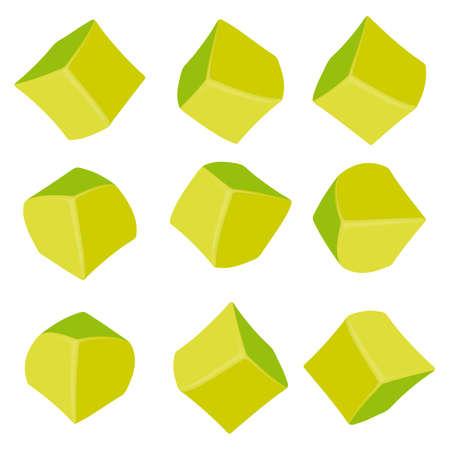 3D Zusammensetzung des Cubes-Abbildung