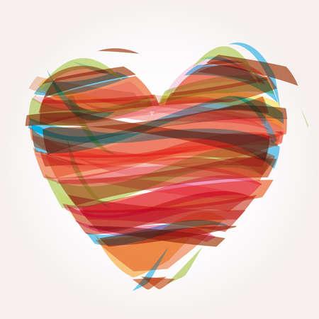 heart Illustration icons symbols Valentine day Stock Vector - 7407461