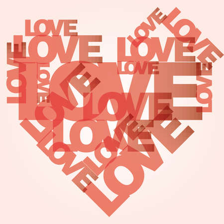edit valentine: valentine heart from sweet love words