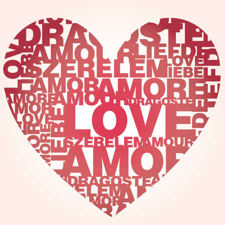 sweet love: Valentine heart from sweet love words