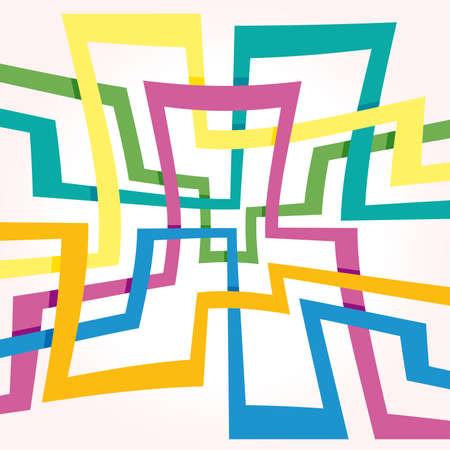 Fondo de franjas coloridas de vector