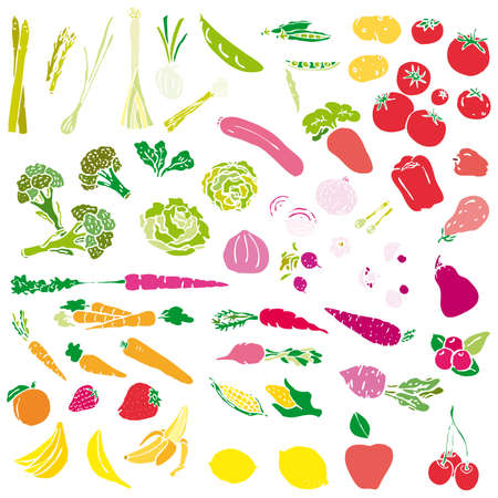 Various Fruits and Vegetables Stock Vector - 7633481