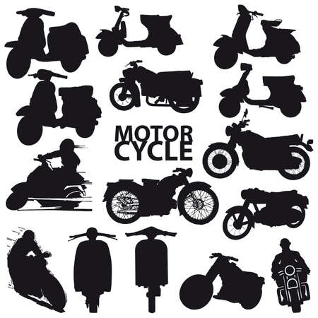 set of motorcycle Stock Vector - 7633499