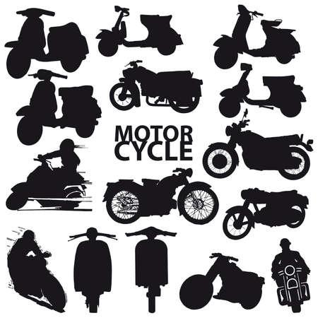 motorbike jumping: set of motorcycle Illustration