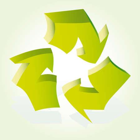 environmentalist: Recycle Arrows. Recycle symbol Illustration