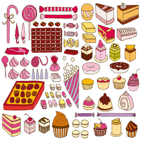 Set of vector sweets photo