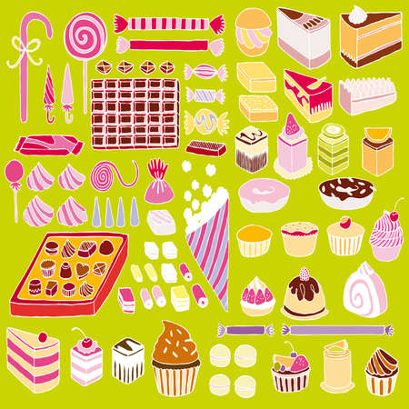 Set of vector sweets Stock Photo - 8257731
