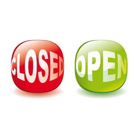 shopsign: Open and closed signs Stock Photo