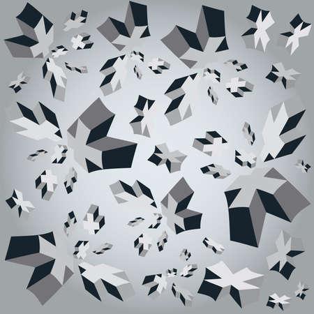 Geometric crosses 3d Cube Background Stock Photo - 8505917