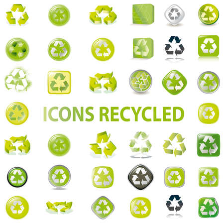 38 set recycle icons vector Vector