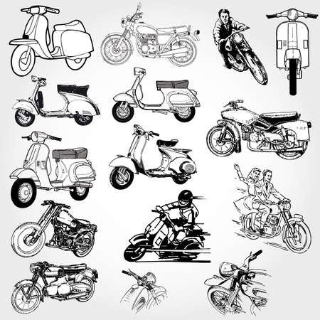 motorcycle set Stock Vector - 8716709
