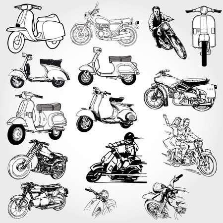 motorcycle set Stock Vector - 8716709
