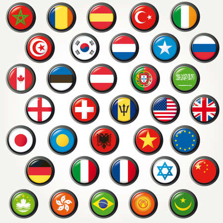 Set of world flags. Stock Photo - 8716716