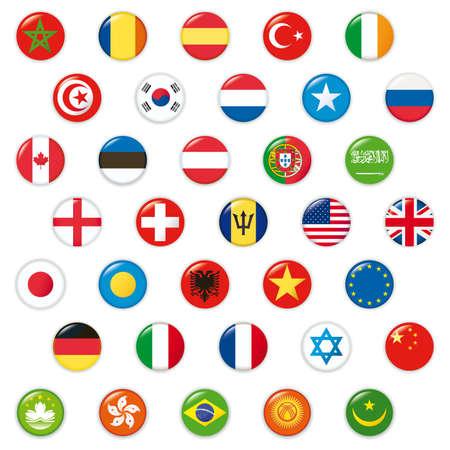 Set of world flags. photo