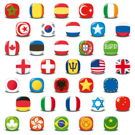 Set of world flags. Stock Photo - 8716715