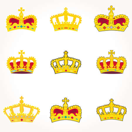 set of crowns vector photo