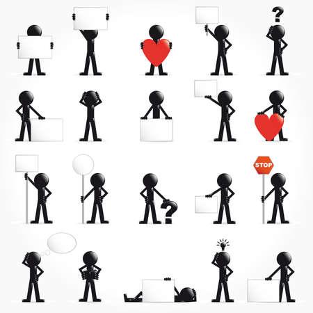 People vector 3D icon set concept arrows illustration Stock Illustration - 9555944