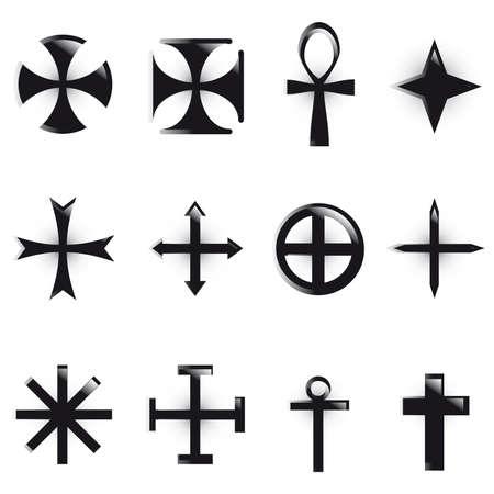 Set Crosses  Vector
