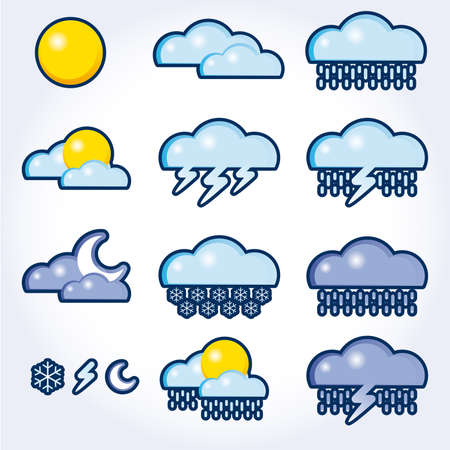 squall: collection of vector, weather icons