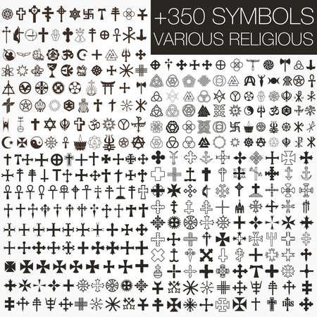 simbolos religiosos:  350 s�mbolos a religiosos diversos Vectores