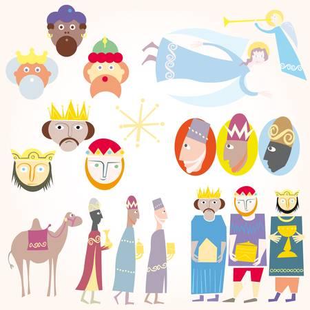 reyes magos: Tres hombres sabios Navidad Set.