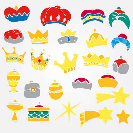 corona de rey: Conjunto de Crawn. Vectores
