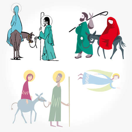 melchor: Illustration vector. Star of Bethlehem. Nativity